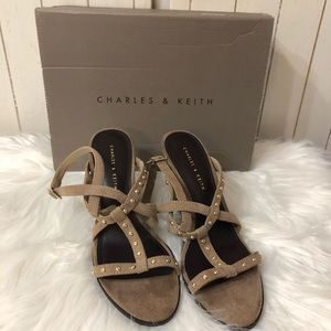 Charles & Keith Shoes - Charles & Keith Sling back wedges size 8